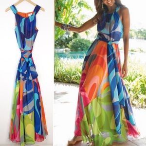 Soft Surroundings Carnivale Tie Maxi Dress